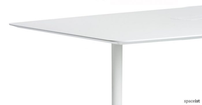 disc oval white meeting room table
