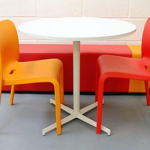 laj star base white designer cafe tables