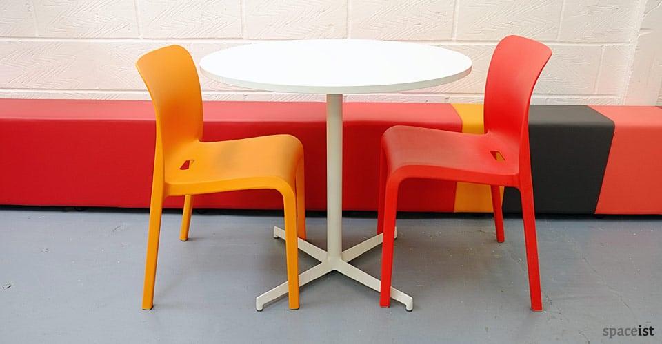 laj star base white designer cafe tables