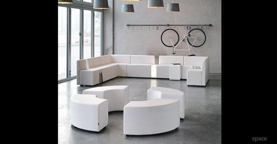 white modular cubes long u shape