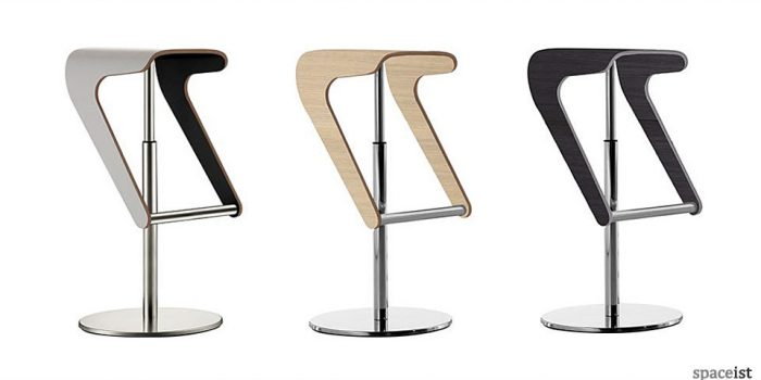 woody plywood bar stools