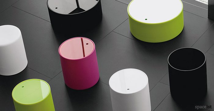 Wow round colourful coffee table