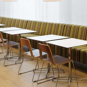 x base square white cafe tables