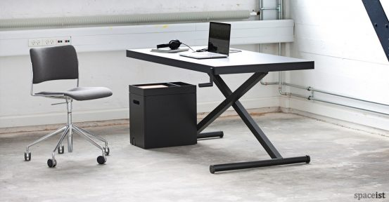 X style standing office desk in black