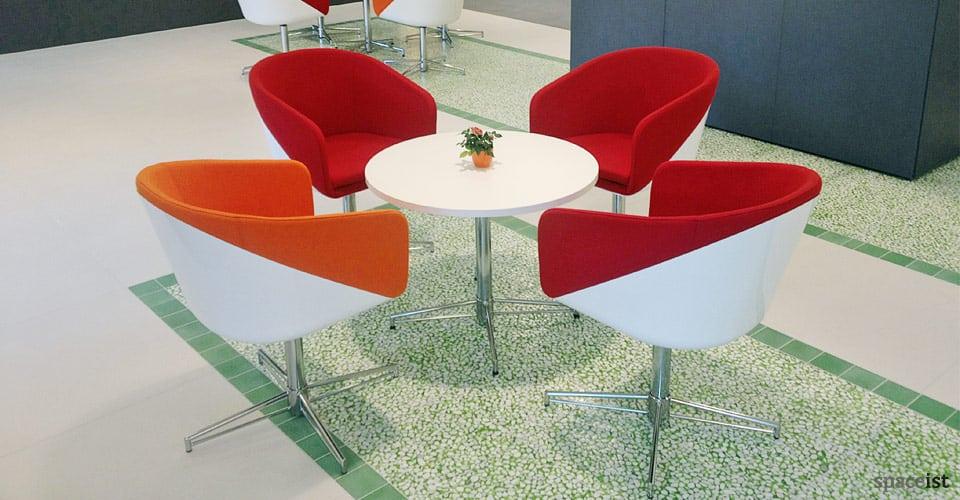 x cafe table white laminate