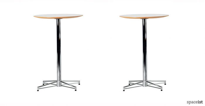 x chrome 100cm high bar tables