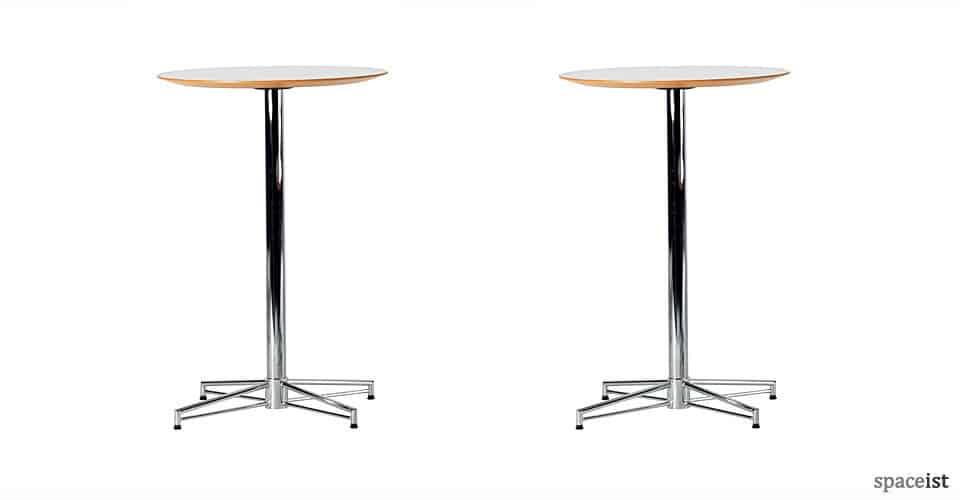 x chrome 100cm high bar tables