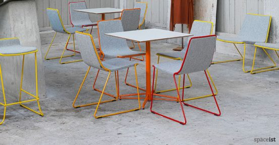 x orange star base cafe table studio chair