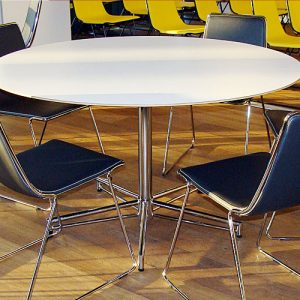 x white round meeting tables