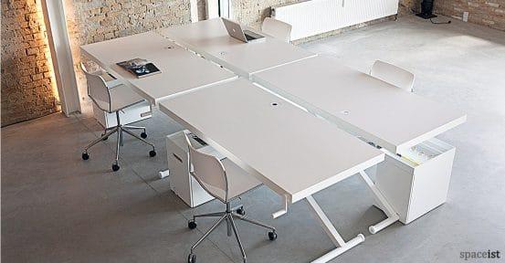 X standing office desk in white
