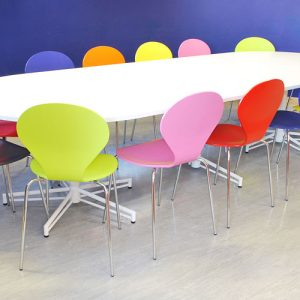 X large white study tables