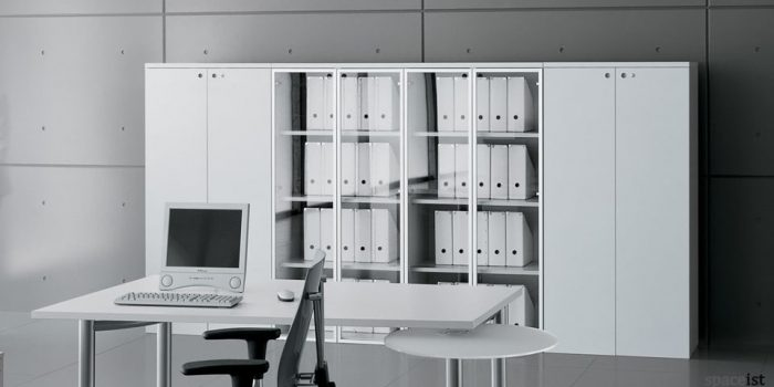 xl glass white storage