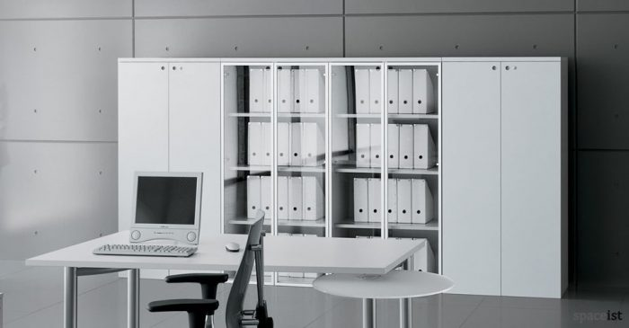 xl glass white storage