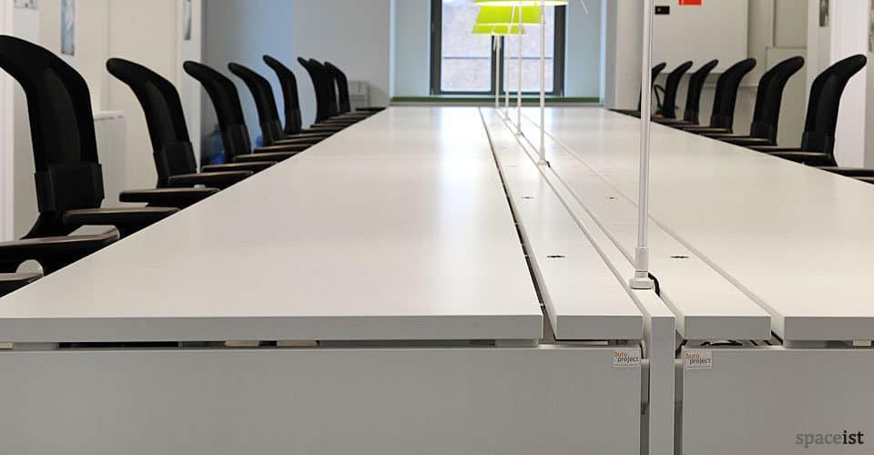 xl long white office desks