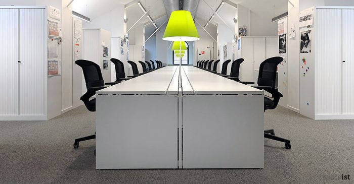 xl long white office desks