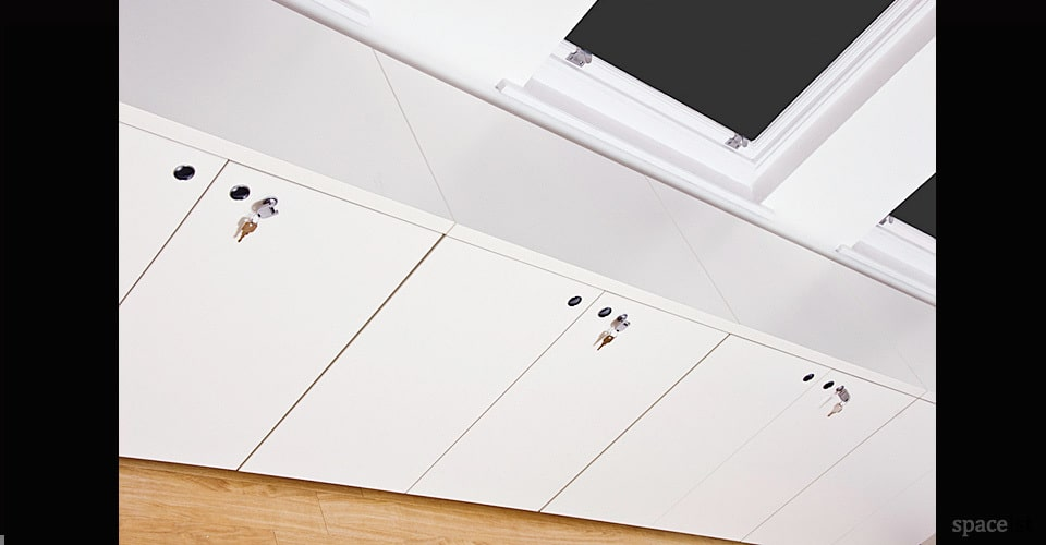 xl low white office cabinet