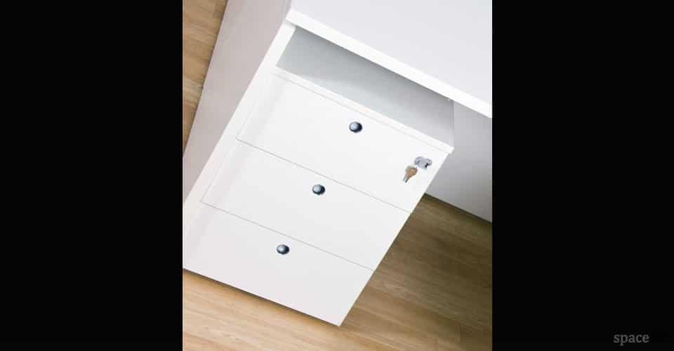 xl white under desk cabinet