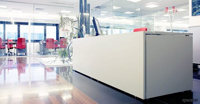 XL long modern reception desk