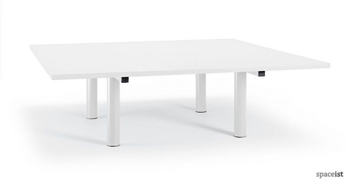 Xtra square white meeting table