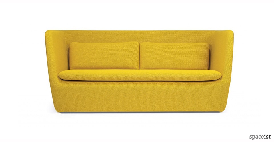 bright yellow cocoon 3 seater sofa