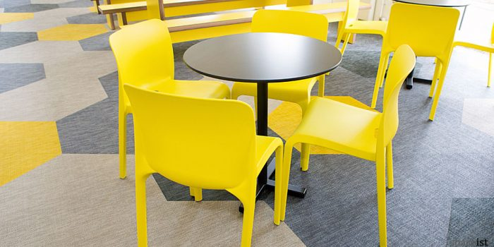 pop yellow modern cafe chairs