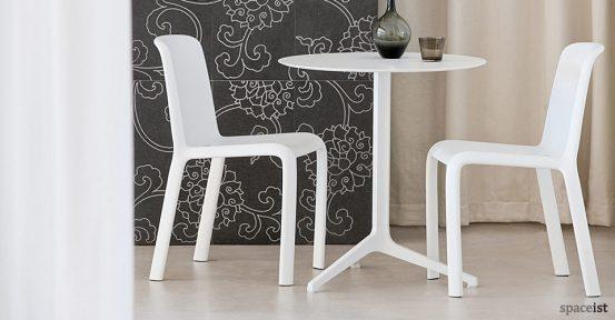 yipsilon white modern cafe tables 60cm dia