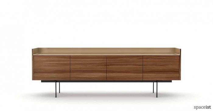 sideboard front view in super matt walnut
