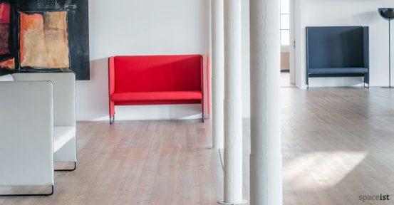 zip high back reception sofa