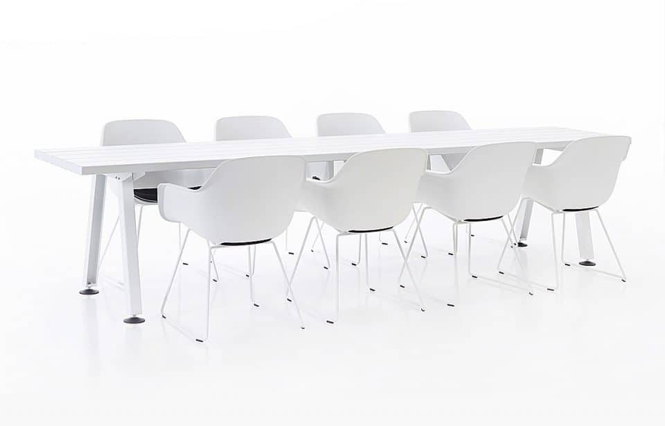 8 person canteen table